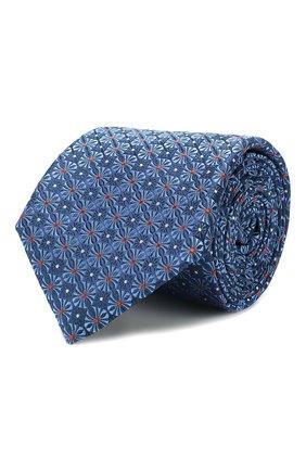 Мужской шелковый галстук CANALI синего цвета, арт. 18/HJ02311   Фото 1