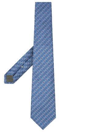 Мужской шелковый галстук CANALI синего цвета, арт. 18/HJ02311   Фото 2