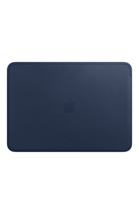 "Мужской чехол leather sleeve для macbook 13"" APPLE темно-синего цвета, арт. MRQL2ZM/A | Фото 1"