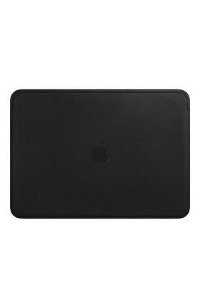 "Мужской чехол leather sleeve для macbook 13"" APPLE черного цвета, арт. MTEH2ZM/A | Фото 1"