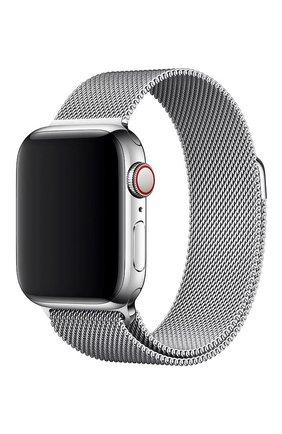 Мужской ремешок apple watch 40mm milanese loop APPLE серебряного цвета, арт. MTU22ZM/A | Фото 1