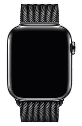Мужской ремешок apple watch 44mm milanese loop APPLE черного цвета, арт. MTU52ZM/A | Фото 2