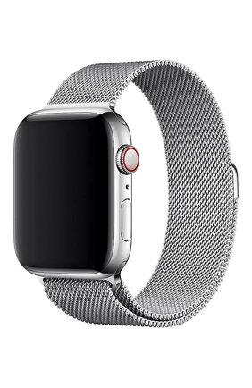 Мужской ремешок apple watch 44mm milanese loop APPLE серебряного цвета, арт. MTU62ZM/A | Фото 1