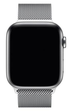 Мужской ремешок apple watch 44mm milanese loop APPLE серебряного цвета, арт. MTU62ZM/A | Фото 2