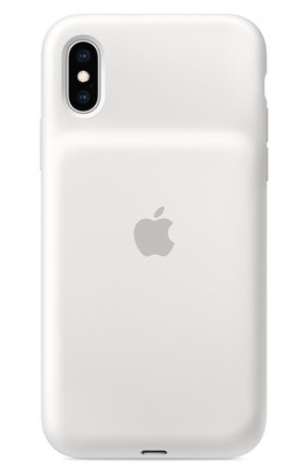 Мужской чехол smart battery case для iphone xs APPLE  белого цвета, арт. MRXL2ZM/A | Фото 1