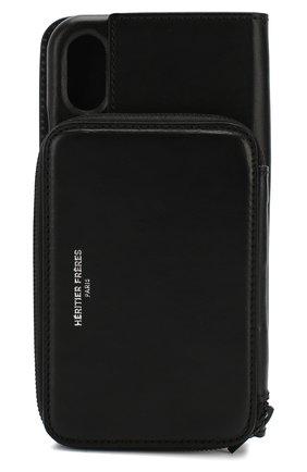 Мужской чехол для iphone x/xs HERITIER FRERES черного цвета, арт. ANDYIPHXBLCK | Фото 2