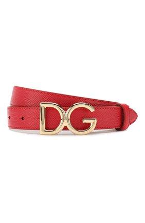 Женский кожаный ремень DOLCE & GABBANA красного цвета, арт. BE1325/A1001   Фото 1