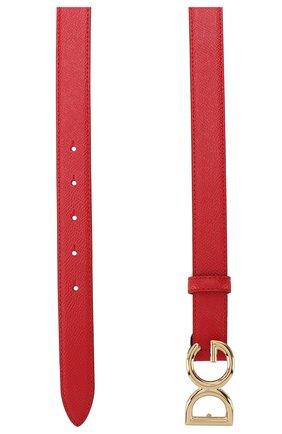 Женский кожаный ремень DOLCE & GABBANA красного цвета, арт. BE1325/A1001   Фото 2
