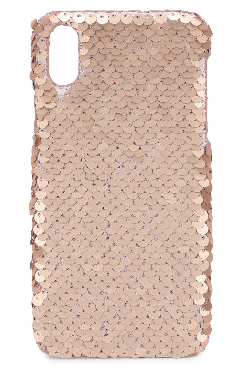 Мужской чехол для iphone x/xs BENJAMINS розового цвета, арт. BJXS-SEQUINSWS | Фото 1
