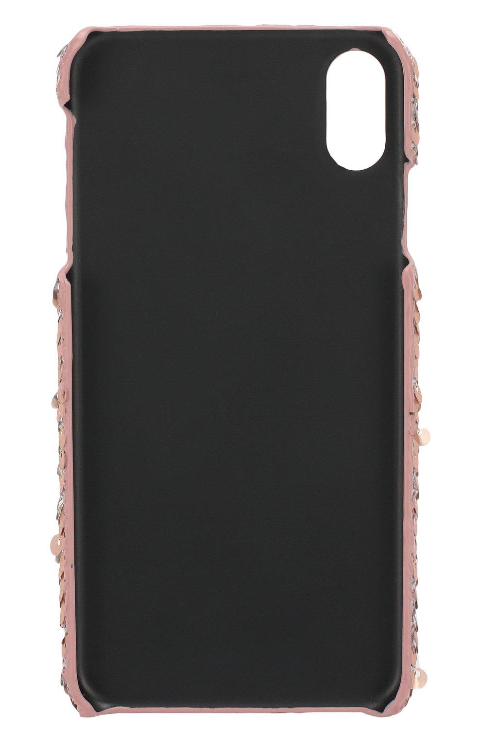 Мужской чехол для iphone x/xs BENJAMINS розового цвета, арт. BJXS-SEQUINSWS | Фото 2