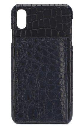 Мужской чехол для iphone xs max 2MESTYLE темно-синего цвета, арт. DD281/CNIL | Фото 1
