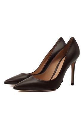 Женская кожаные туфли gianvito 105 GIANVITO ROSSI бордового цвета, арт. G28470.15RIC.NAPR0YA | Фото 1