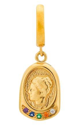 Женские моносерьга hygeia HERMINA ATHENS золотого цвета, арт. YSEG | Фото 1