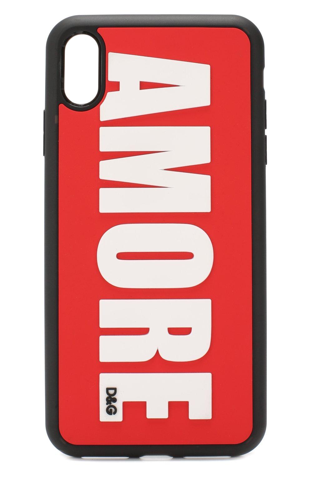 Мужской чехол для iphone xs max DOLCE & GABBANA красного цвета, арт. BI2513/AA235 | Фото 1