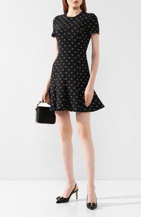 Женская кожаные туфли SALVATORE FERRAGAMO черного цвета, арт. Z-07149641C | Фото 2