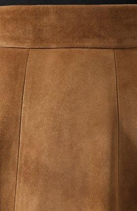 Женская замшевая юбка RALPH LAUREN коричневого цвета, арт. 290764171 | Фото 5