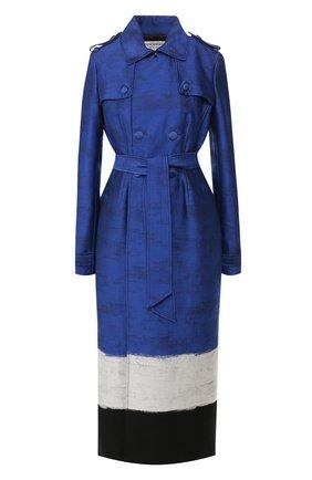 Пальто из смеси хлопка и шелка | Фото №1