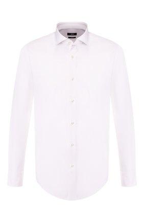 Мужская хлопковая рубашка BOSS белого цвета, арт. 50413802 | Фото 1
