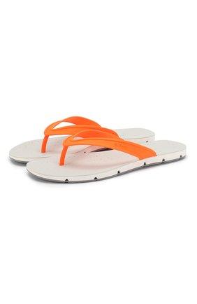 Мужские шлепанцы SWIMS оранжевого цвета, арт. 21287   Фото 1 (Материал внешний: Резина; Статус проверки: Проверена категория)