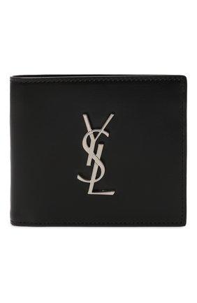 Мужской кожаное портмоне SAINT LAURENT черного цвета, арт. 453276/0SX0E | Фото 1