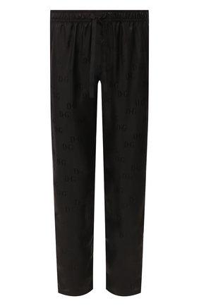Мужские шелковые брюки DOLCE & GABBANA черного цвета, арт. GYB0HT/FJ1GM | Фото 1