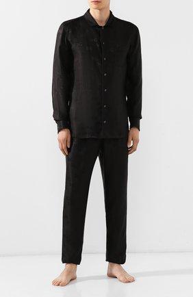 Мужские шелковые брюки DOLCE & GABBANA черного цвета, арт. GYB0HT/FJ1GM | Фото 2