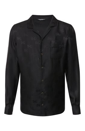 Мужская шелковая рубашка DOLCE & GABBANA черного цвета, арт. G5EM2T/FJ1GM | Фото 1