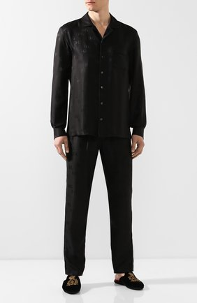 Мужская шелковая рубашка DOLCE & GABBANA черного цвета, арт. G5EM2T/FJ1GM | Фото 2