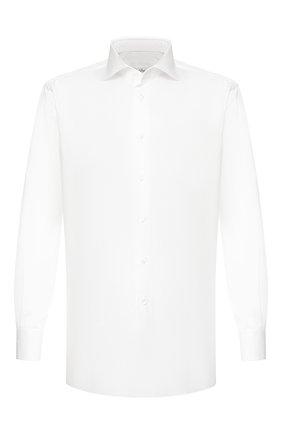 Мужская хлопковая сорочка BRIONI белого цвета, арт. RCL80Q/0805E | Фото 1