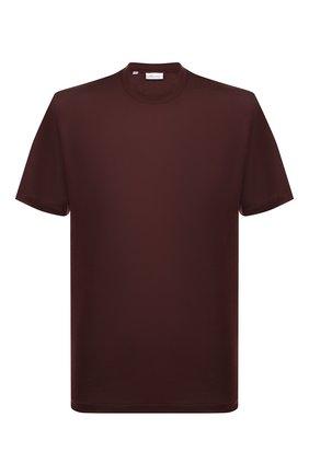 Мужская шелковая футболка BRIONI бордового цвета, арт. UJCH0L/P8619 | Фото 1