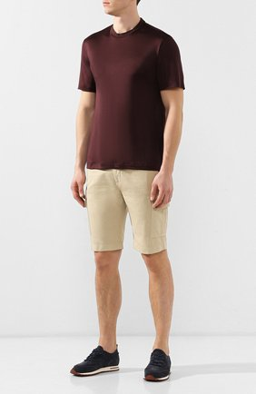 Мужская шелковая футболка BRIONI бордового цвета, арт. UJCH0L/P8619 | Фото 2