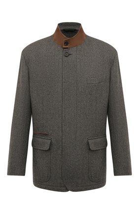 Мужская шерстяная куртка BRIONI серого цвета, арт. SGMN0L/08A9P | Фото 1
