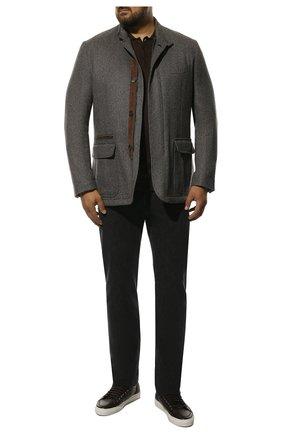 Мужская шерстяная куртка BRIONI серого цвета, арт. SGMN0L/08A9P | Фото 2