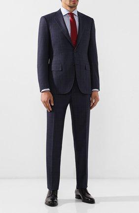 Мужские кожаные дерби BRIONI черного цвета, арт. QEEX0L/P6757   Фото 2