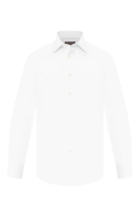 Мужская хлопковая сорочка CANALI белого цвета, арт. NX05/GR01598/S | Фото 1