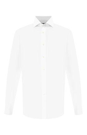 Мужская хлопковая сорочка CANALI белого цвета, арт. 7C3/GA00101/S | Фото 1