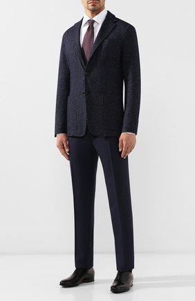 Мужской шерстяные брюки CANALI синего цвета, арт. 71019/AA02161 | Фото 2
