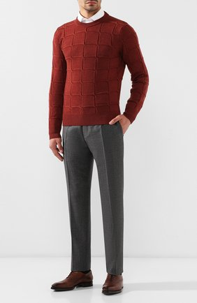 Мужские шерстяные брюки CANALI светло-серого цвета, арт. 71019/AA02161 | Фото 2