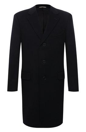 Мужской пальто из смеси шерсти и кашемира CANALI темно-синего цвета, арт. 57110/FU00039 | Фото 1