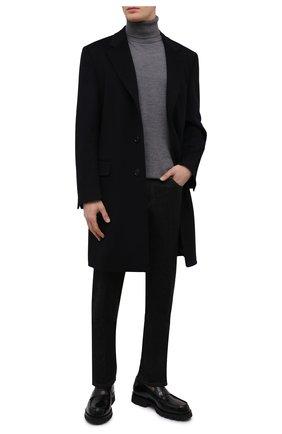Мужской пальто из смеси шерсти и кашемира CANALI темно-синего цвета, арт. 57110/FU00039 | Фото 2