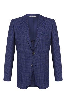 Мужской пиджак из смеси шерсти и кашемира CANALI темно-синего цвета, арт. 21288/CF02203/112 | Фото 1