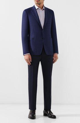 Мужской пиджак из смеси шерсти и кашемира CANALI темно-синего цвета, арт. 21288/CF02203/112 | Фото 2