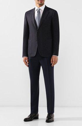 Мужской пиджак из смеси шерсти и шелка CANALI темно-синего цвета, арт. 11288/CF02220/112 | Фото 2