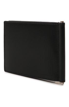 Мужской кожаный зажим для денег SAINT LAURENT черного цвета, арт. 485630/0SX0E | Фото 2