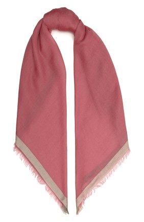 Женский платок quadrata rainbow из кашемира и шелка LORO PIANA розового цвета, арт. FAE7233 | Фото 1