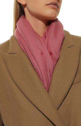 Женский платок quadrata rainbow из кашемира и шелка LORO PIANA розового цвета, арт. FAE7233 | Фото 2