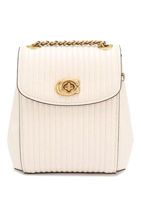 Женский рюкзак parker 16 small COACH белого цвета, арт. 52996 | Фото 1