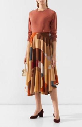 Женская замшевые туфли SANTONI бордового цвета, арт. WDTC57817SH2GMGDB56 | Фото 2