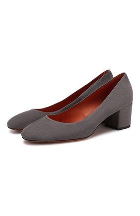 Женская замшевые туфли SANTONI серого цвета, арт. WDTC57817SH2GMGDG72 | Фото 1