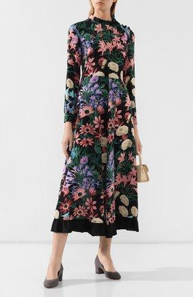 Женская замшевые туфли SANTONI серого цвета, арт. WDTC57817SH2GMGDG72 | Фото 2